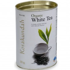 Korakundah Organic White Tea in Brass Tin  100g - New Pack